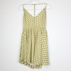 3/25$ American Threads Geometric Yellow dress
